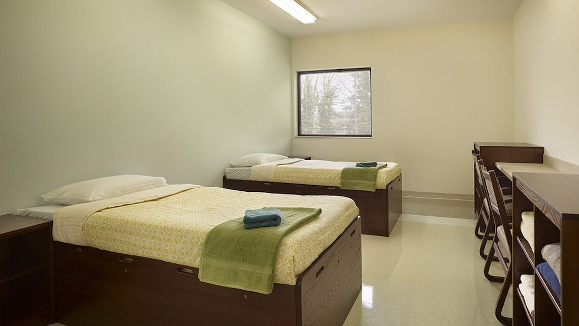 Adult Dormitory with Two Beds and Desks | FairmountBHS.com
