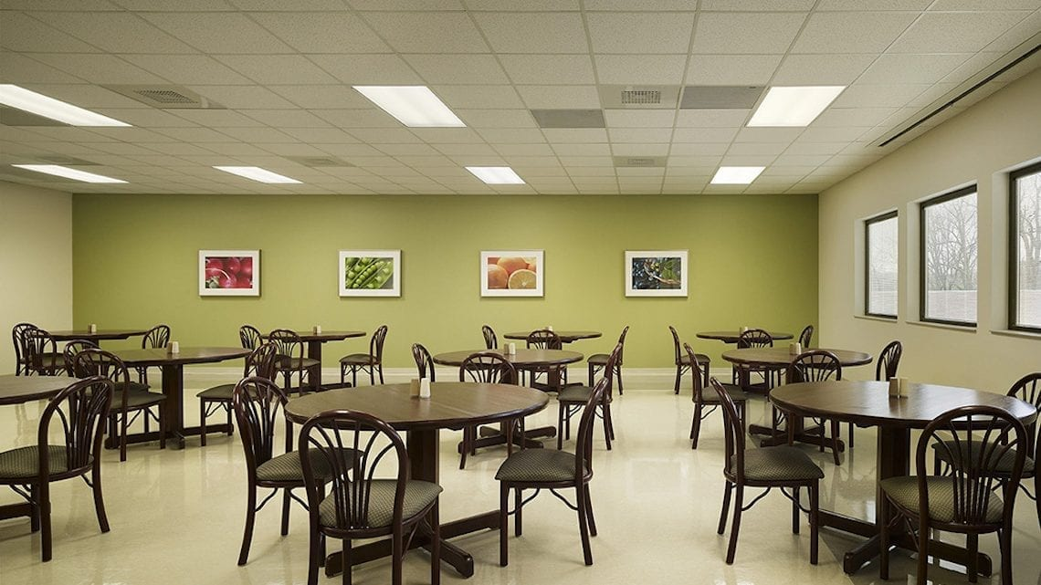 Cafeteria with Round Tables and Chairs | FairmountBHS.com